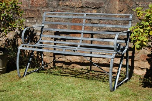 Wrought Iron Garden Furniture Uk Wrought iron garden bench seat 2 seater workwithnaturefo