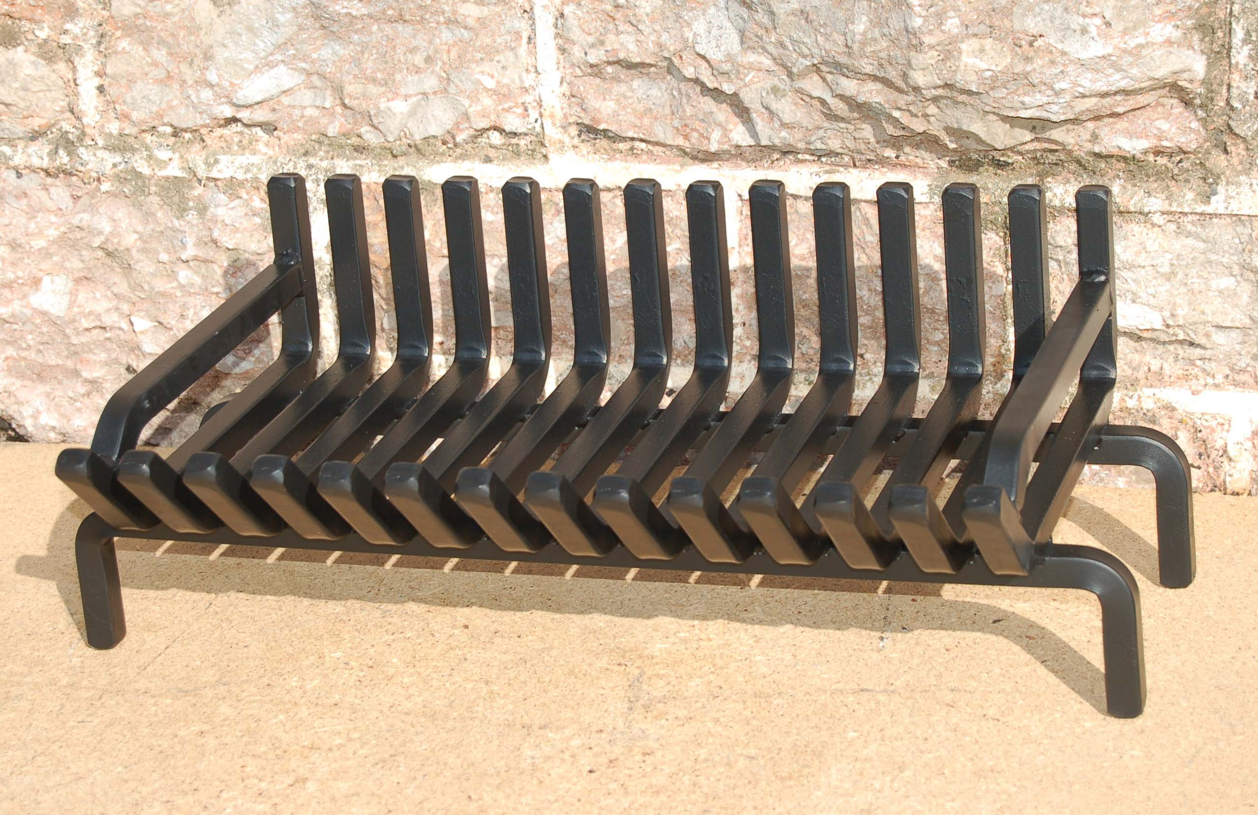 iron bloqbuilds fire cast diy fireplace finished place rebar action grate in